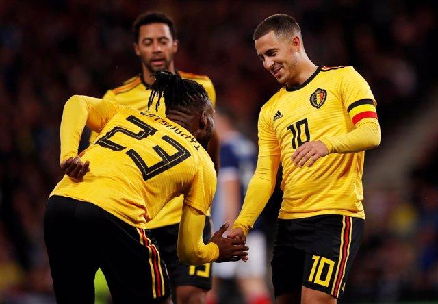 Batshuayi y Hazard con Bélgica