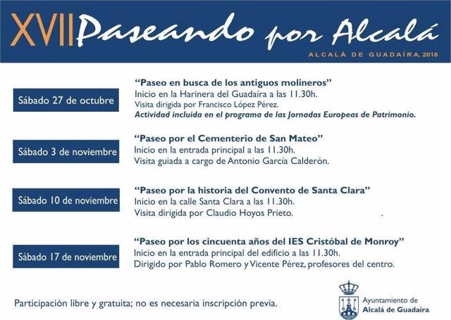 Cartel de 'Paseando por Alcalá'.