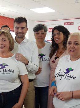 Antoni Maíllo y Teresa Rodriguez Podemos e Izquierda Unida adelante andalucía