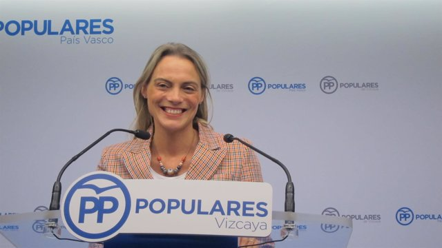 La presidenta del PP de Bizkaia, Raquel González