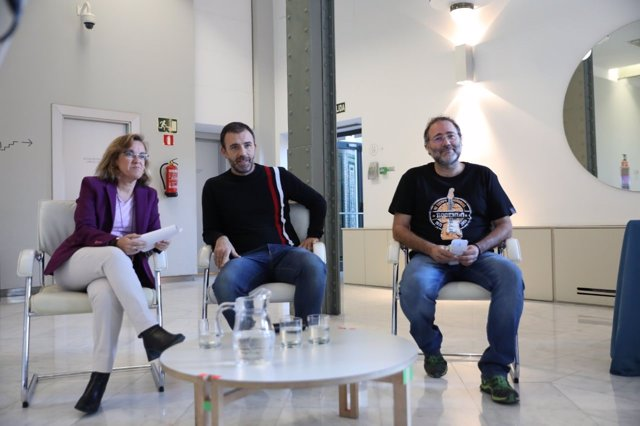 Purificación Causapié, Nacho Murgui y Enrique Villalobos