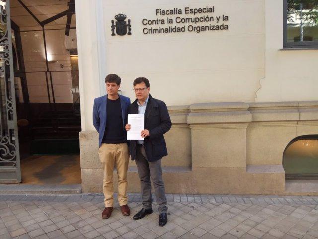 El diputado madrileño Miguel Ongil y el concejal colomiana Hollman Morrish