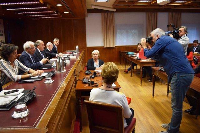 Borrell en la comisión de exteriores del Senado