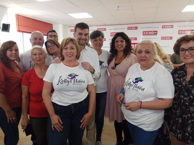 Antonio Maíllo y Teresa Rodríguez IU y Podemos Adelante Andalucía con kellys cam