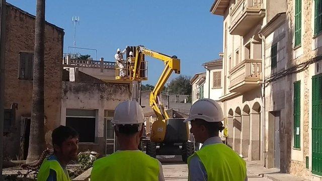 Demolición de casas en Sant Llorenç