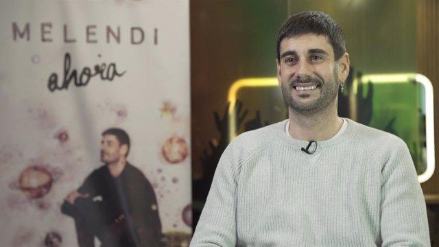 """El cantante Melendi presentando su disco """"Ahora"""""""