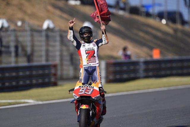 Marc Márquez, campeón del mundo en Motegi