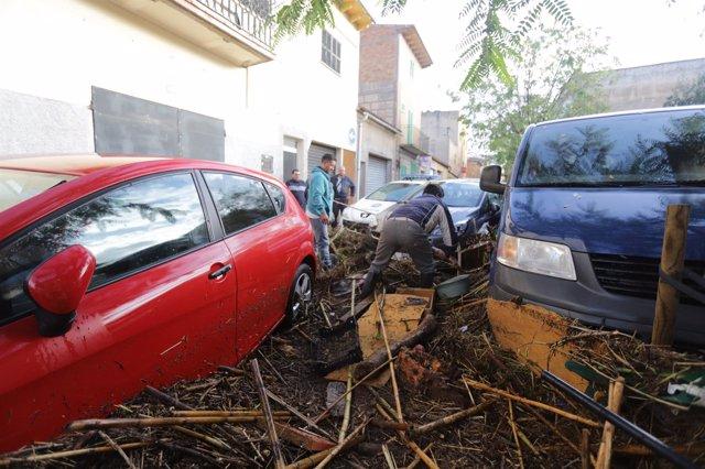 Sant Llorenç (Mallorca) tras las inundaciones