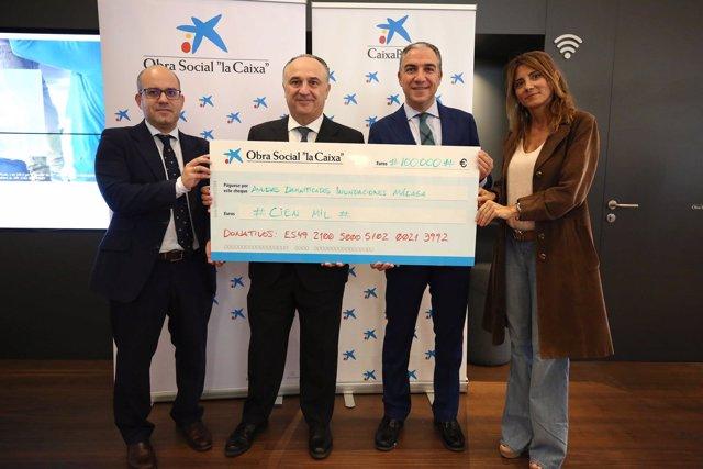 Caixabank La caixa da 100.000 euros diputación ayudas temporal máalga