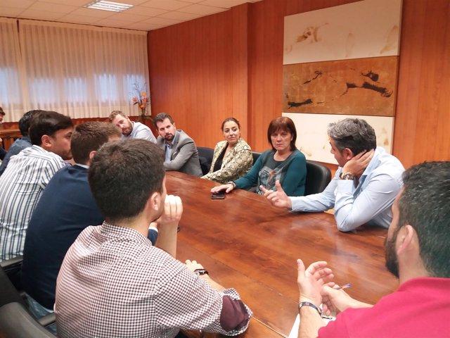 Reunión de Tudanca con el Consejo de la Juventud