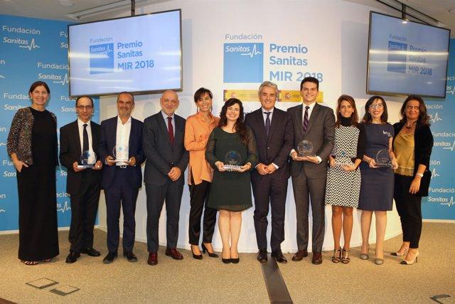 Los ganadores del Premio Sanitas MIR 2018