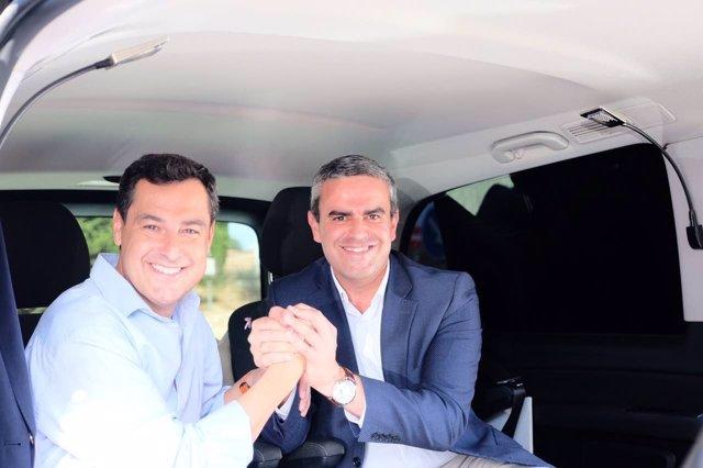 Pepe Ortiz con Juanma Moreno