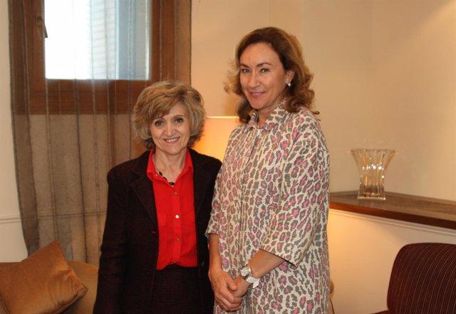 Consejera de Salud con ministra de Sanidad, María Luisa Carcedo