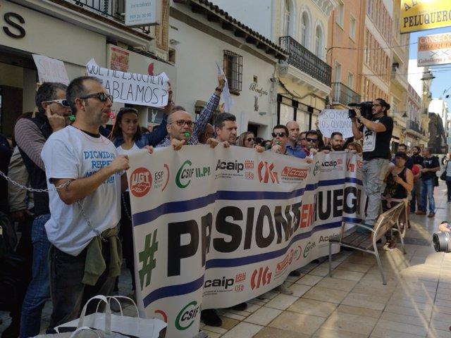 Protesta de funcionarios de prisiones en Huelva