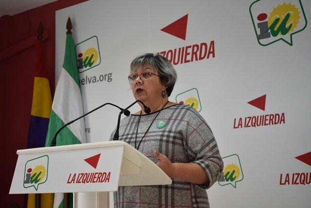 Mónica Rossi, portavoz de IU en el Ayuntamiento de Huelva.