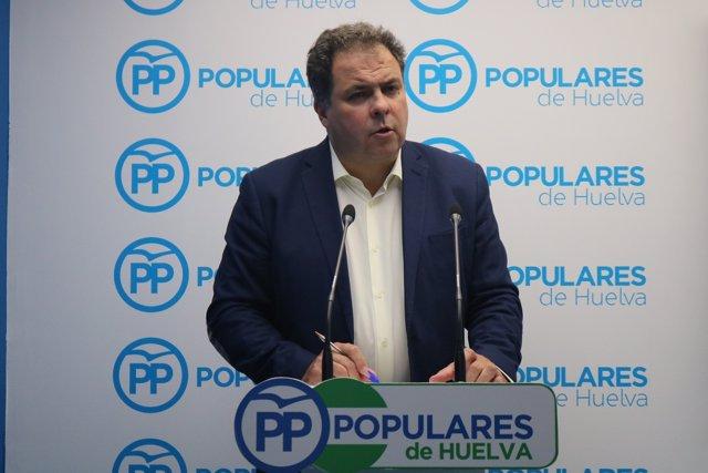 El portavoz de la Dirección Provincial del PP de Huelva, Juan Carlos Duarte.
