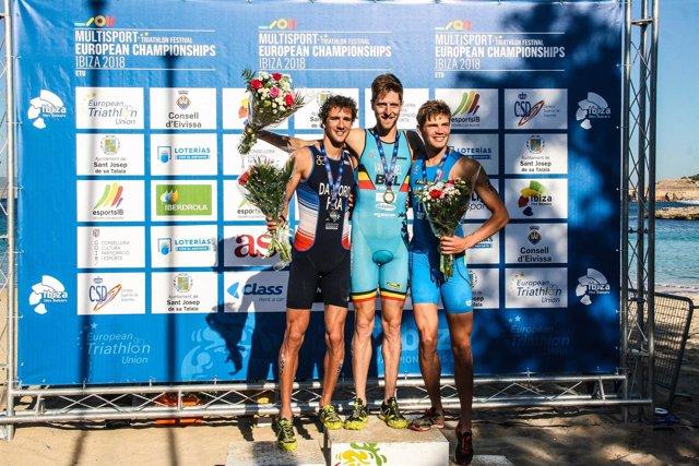 Ganadores del Triatlón Cros en Ibiza