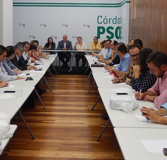 Reunión de la Ejecutiva Provincial del PSOE de Córdoba