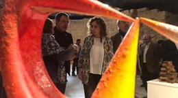 La consellera Ester Capella en sala de exposiciones Sant Joan de Lleida