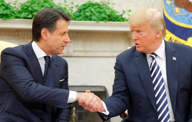 Giuseppe Conte y Donald Trump