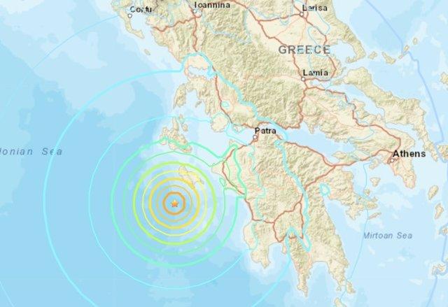 Registrado un terremoto de magnitud 6,8 en el oeste de Grecia