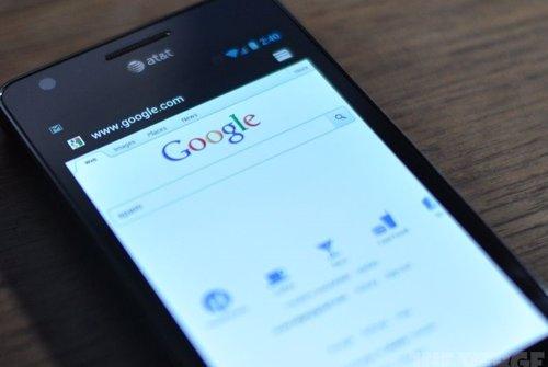 Pantalla de Google en un móvil