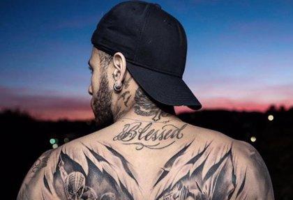 El asombroso y enorme tatuaje de Neymar