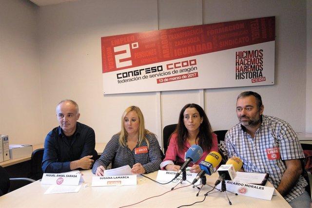 Rueda de prensa de UGT, CCOO, CSIF y Sindicato Libre.