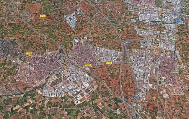 Localización de Picassent (Valencia)