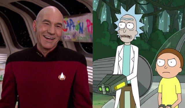 Star Trek y Rick y Morty