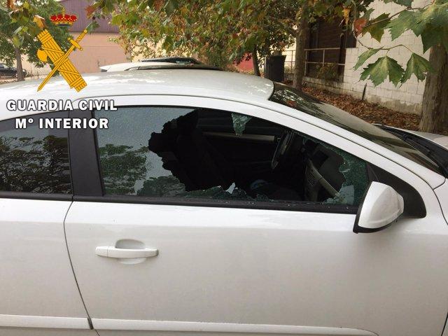 Uno de los vehículos robados