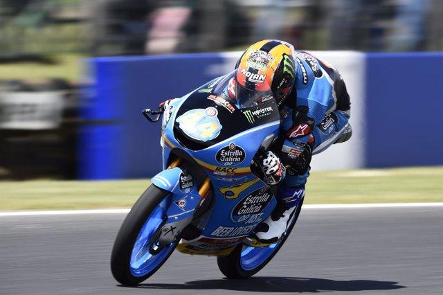 Arón Canet en los libres del Gran Premio de Australia 2018