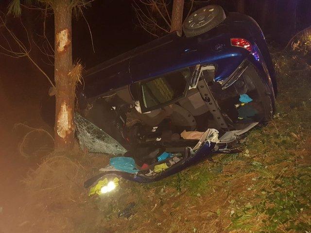 Accidente registrado en Boqueixón (A Coruña)