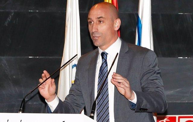 El presidente de la Real Federación Española de Fútbol (RFEF), Luis Rubiales