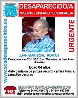 Anciano desparecido en Las Cabezas de San Juan