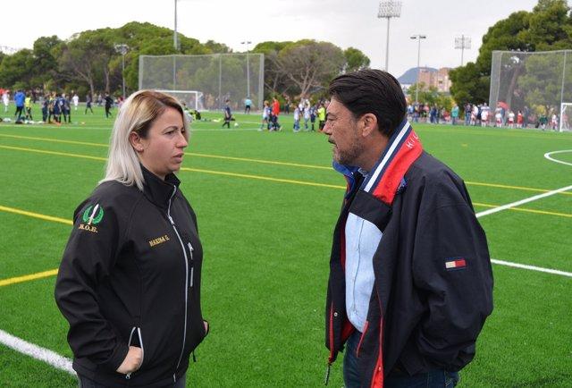 Barcala visita la ciudad deportiva