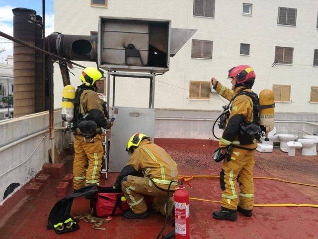 Extinción en un hotel en Alicante