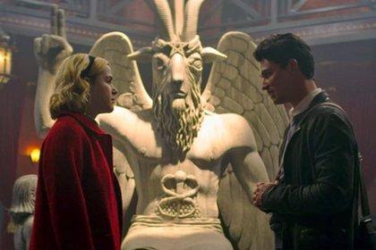 La estatua del diablo que aparece en Sabrina es real