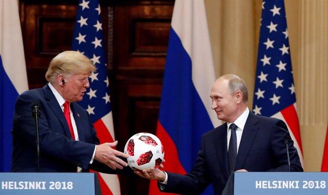 Donald Trump y Vladimir Putin, en la cumbre de Helsinki
