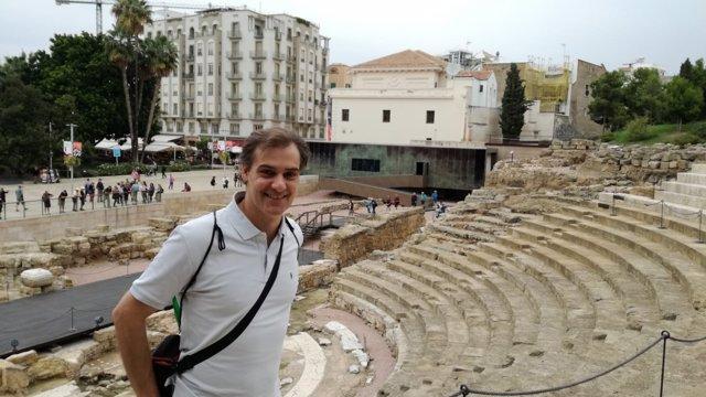 Jordi Martínez en el Teatro Romano
