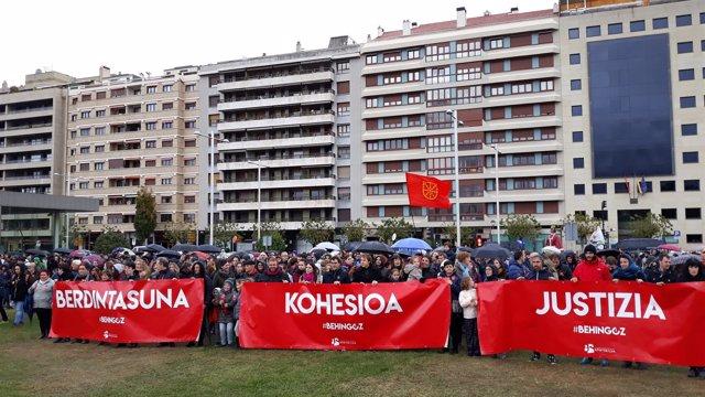 Manifestación por la cooficialidad del euskera en Navarra
