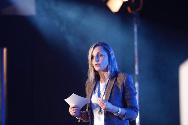 Maribel Sánchez, en la Interparlamentaria del PP en Sevilla