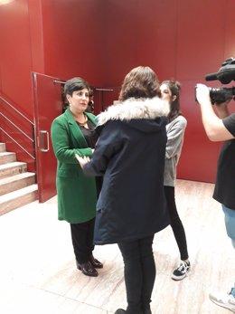 María  Solana es entrevistada en el transcurso del Congreso