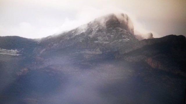 Primera nevada captada por la cámara del Consorcio
