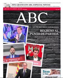 Portada ABC 27/10/2018
