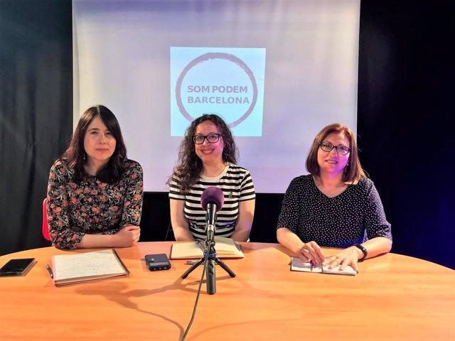 Noelia Bail (centro) en una imagen de archivo.