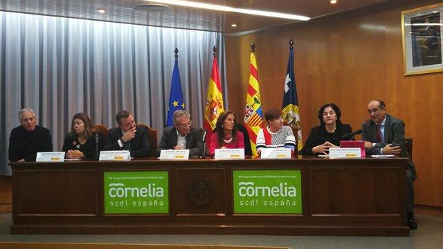 Inauguración del congreso sobre Cornelia de Lange en Zaragoza.