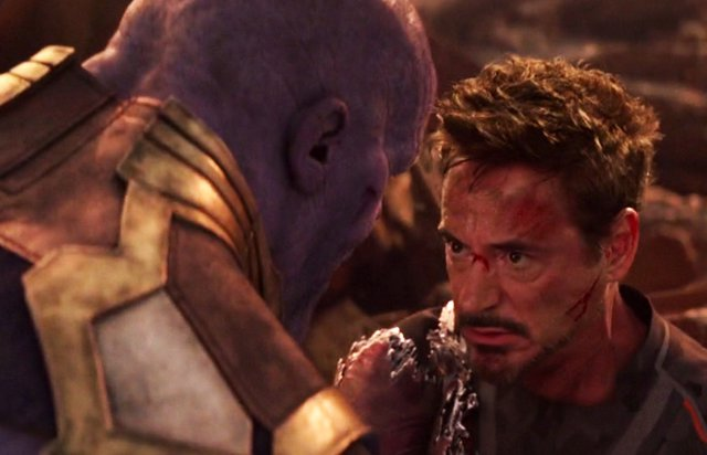 Iron Man vs Thanos en Vengadores: Infinity War