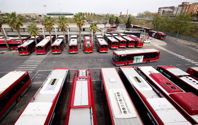 Flota de autobuses de la EMT