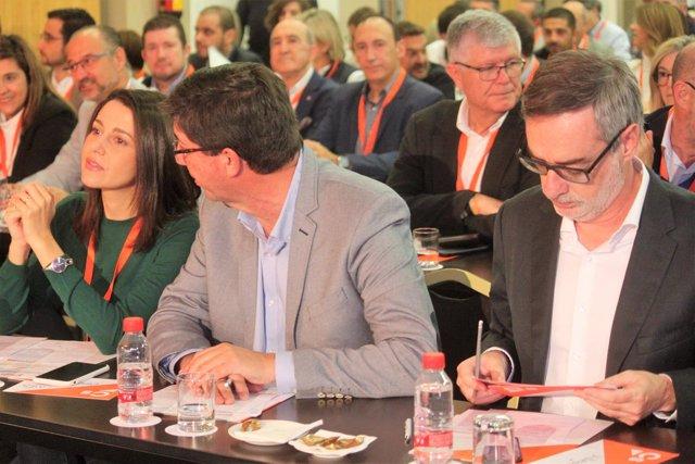 Arrimadas, Villegas y Marín en el Consejo General de Ciudadanos